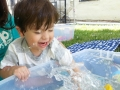 Splish, splash, splash, Mateo!